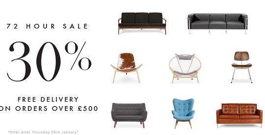 30% Off In 72 Hour Sale @ Interior Addict