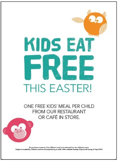 Kids Eat Free Debenhams