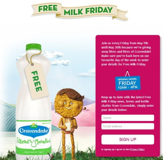 Free Milk Friday