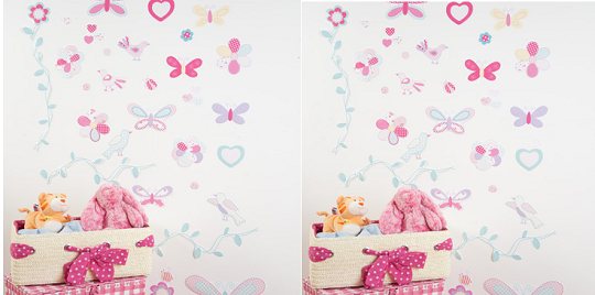 Good This Giant Butterfly Themed Wall Sticker Set Used To Be On Sale For £15,  But Now Itu0027s Down To £5 And It Is Desperately Cute. You Are Saving Well  Over Half ... Part 10