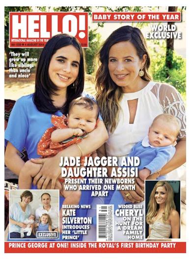 Hello magazine Jade Jagger