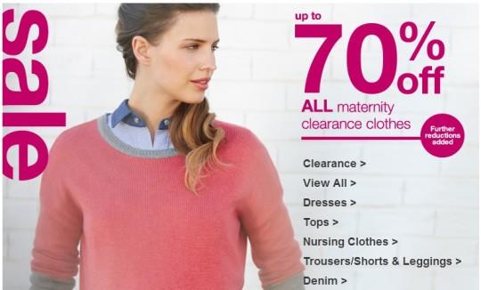 70% Off Maternity Wear