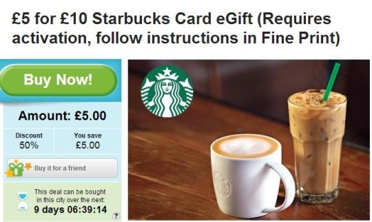 Starbucks Groupon