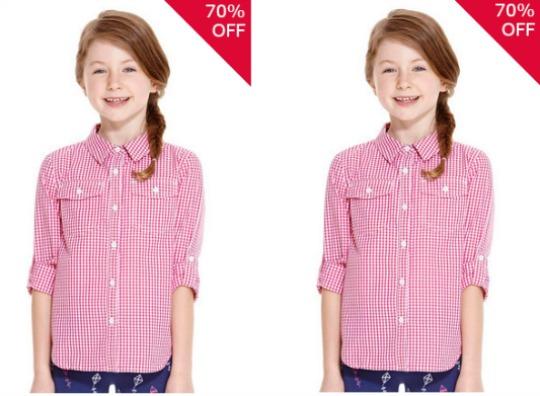 cherokee gingham blouse