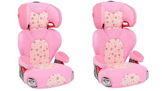 pink graco booster