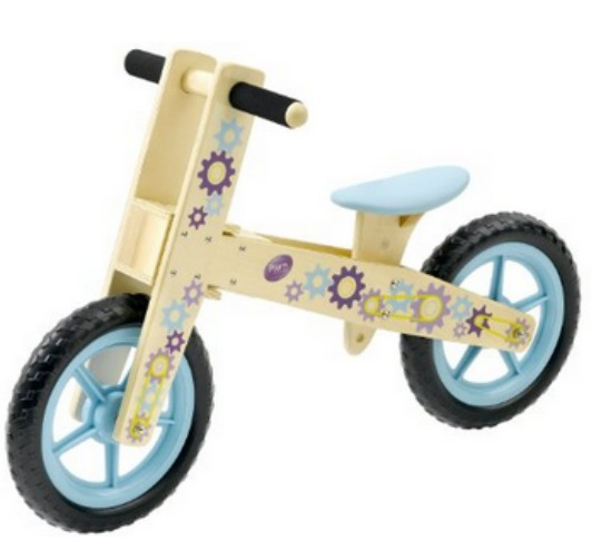 plum wooden balance bike