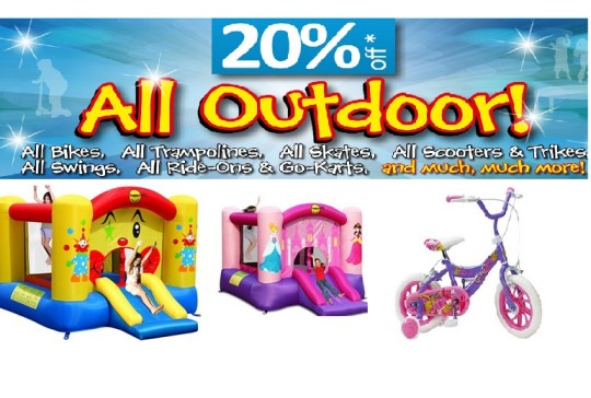 Smyths 20% Off Outdoor Toys