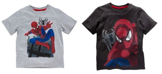 Argos spiderman t shirts