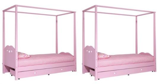 argos pink four poster
