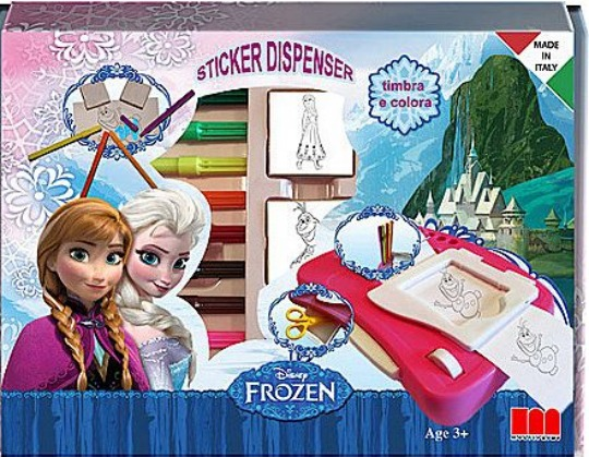 frozen sticker dispenser