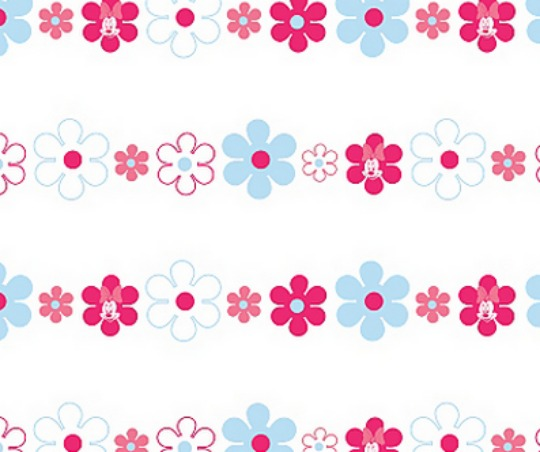 Disney Minnie Mouse Bows Daisies Wallpaper GBP250 Asda Direct
