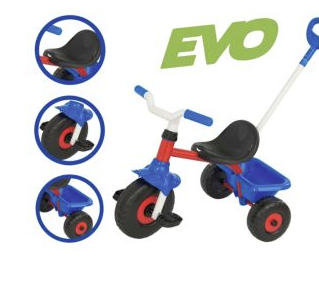 Evo red and blue trike