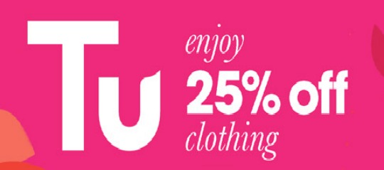 The next 25% off TU Clothing deal starts on Tuesday 21st and runs until close of business on 27th May One day you are the bird and the next you are the statue, but everyday you .