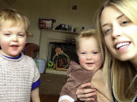 Peaches Geldof with Phaedra and Astala