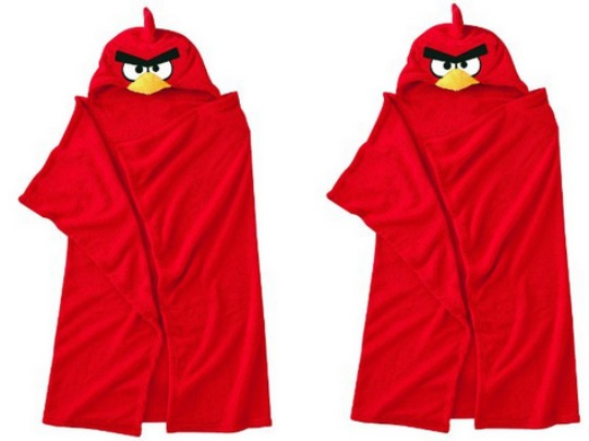 angry birds hooded blanket