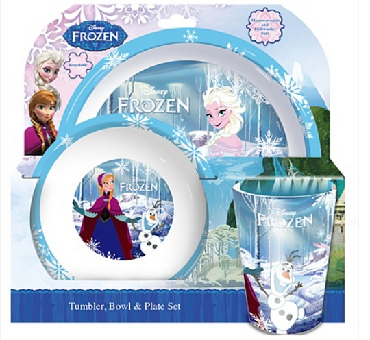 frozen tumbler bowl and plate