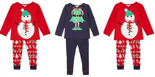 childrens christmas pyjamas from 595 debenhams - Childrens Christmas Pyjamas