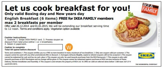 IKEA Free Breakfast