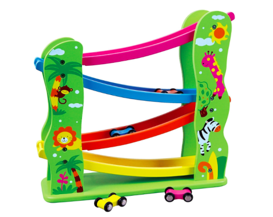 Viga Wooden Jungle Zig Zag Car Slider