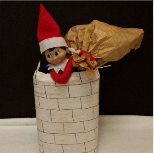 elf down the chimney