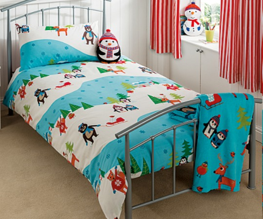 snow scene duvet pm