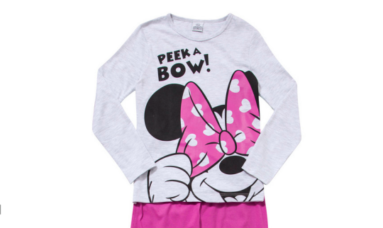 Disney Minnie Mouse Peek A Bow Pyjamas
