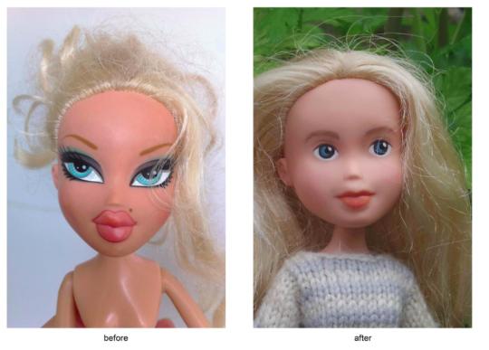 Bratz Dolls get a make-under