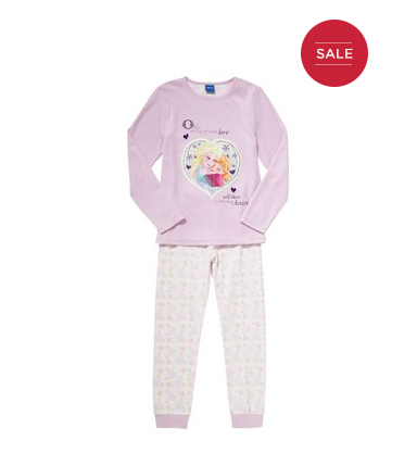 Disney Frozen Velour Top Pyjamas