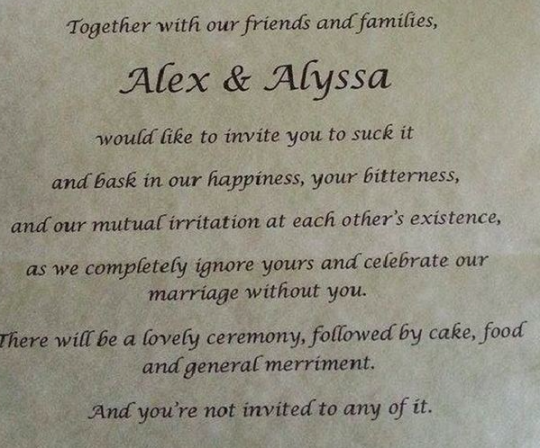 Bride UnInvites Parents To Her Wedding