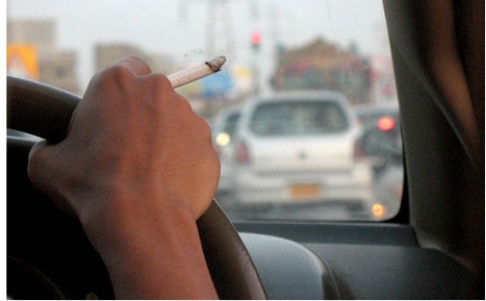 smoking in cars pm
