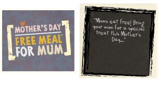 Mothers Day meals and days out pm