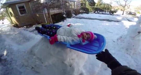 Home-made luge