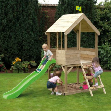 Wooden Multiplay Playhouse