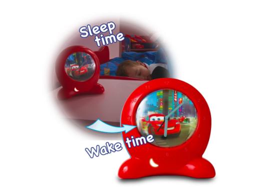 Disney Cars Go Glow Clock Sleep Trainer