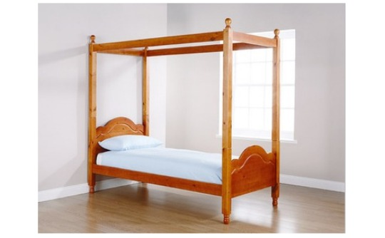 Solid Pine Four Poster Kids Single Bed Frame 83 94 Delivered