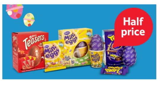 Selected large easter eggs half price now 150 tesco negle Image collections