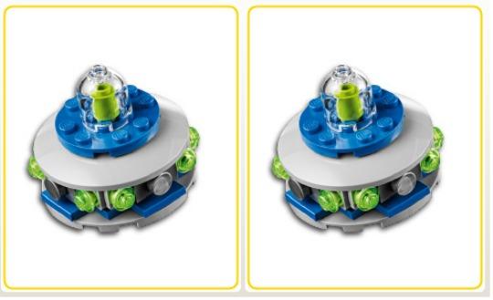 lego mini build UFO pm