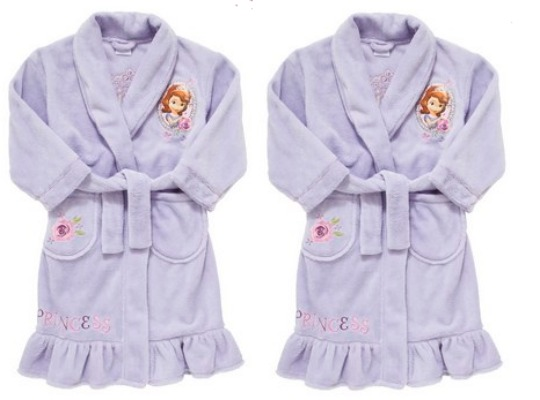 Sofia The First Dressing Gown £5-£6 @ Clothing At Tesco