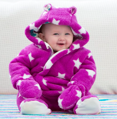 Kite Baby Girls Starry Long Sleeve Snowsuit