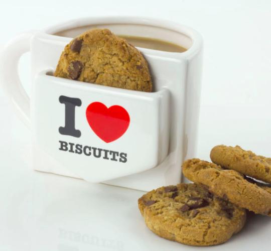 I love biscuits mug
