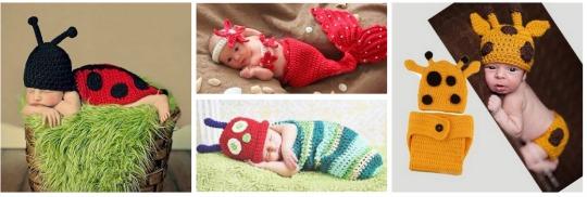 crochet baby photo prop pm