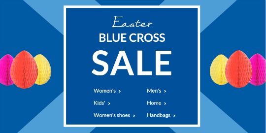 easter blue cross sale pm