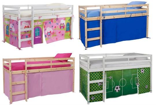 Mid Sleeper Bed Plus Mattress Tent
