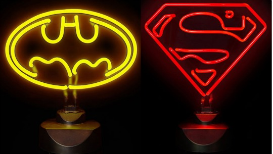 superhero neon lights