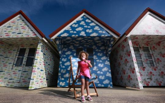 CK beach huts 2 pm