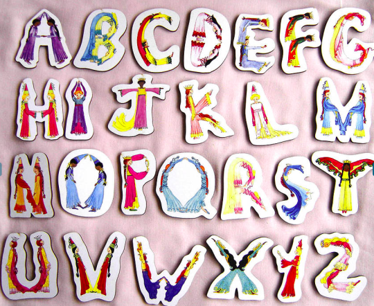 Princess Wooden Letters