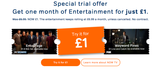 Entertainment Month Pass Now TV
