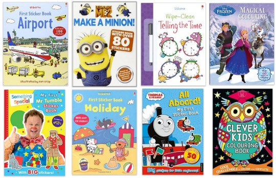 activity books 4 for £10 pm