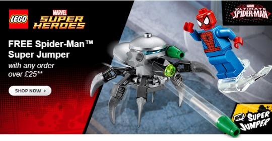 free spidey lego gift pm