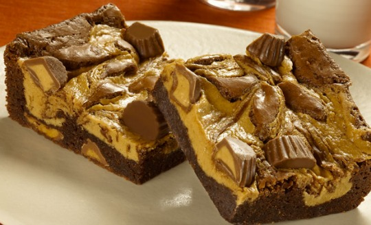 reeses peanut butter cup brownies pm